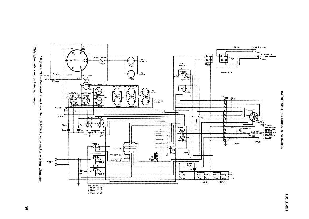 Jb 70b Junction Box J B Wiring Diagram Original Signal Corps 70a Schematic For Reference